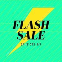 design de modelo de banner de venda flash, oferta especial de grande venda. banner de oferta especial de fim de temporada. vetor