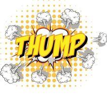 balão de fala em quadrinhos com texto de impacto vetor