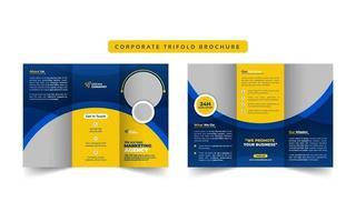 brochura de negócios corporativos com três dobras