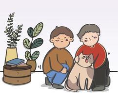 casais românticos, parceiros românticos transgêneros, passam o tempo juntos com seus cães.