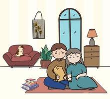 casal apaixonado fazendo várias atividades dentro de casa