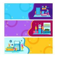 coleção de banners de tecnologia sem contato vetor