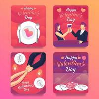cartão romântico jantar do dia dos namorados para casal vetor
