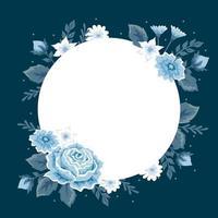 fundo da natureza com lindos florais em estilo design plano vetor