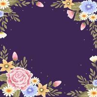 fundo lindo quadro floral vetor