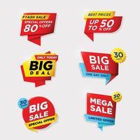 etiqueta comercial para venda e promoção vetor