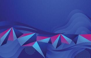 camadas pontilhadas prisma gradiente onda geométrica fundo vetor