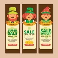 promoção de marketing de super venda com o tema saint patrick vetor