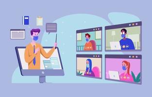 conceito online de educação e conhecimento vetor