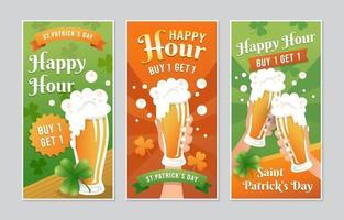 banner de promoção de cerveja happy hour vetor