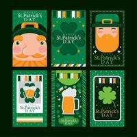 comemore o conceito do cartão do dia de St Patrick vetor