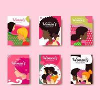 coleção de cartão do mês da história da mulher vetor