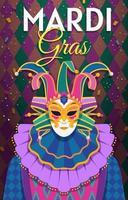 conceito de cartão de mardi gras vetor