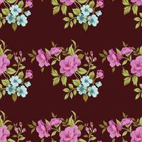 fundo de seamles de padrão fofo de flor vetor