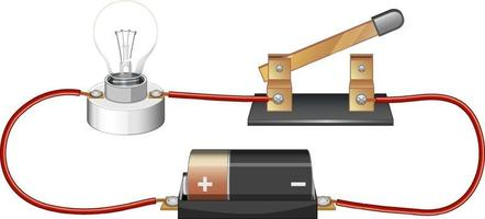 experimento científico do circuito elétrico vetor