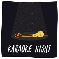 cartaz de convite de entretenimento noturno em karaokê