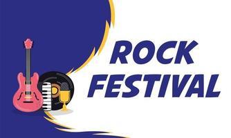 pôster de convite de entretenimento para festival de rock