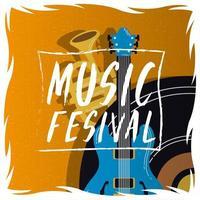 pôster de convite de entretenimento para festival de música