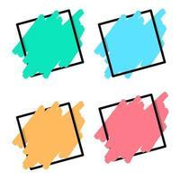 conjunto de design de coleção colorida de banner moderno vetor