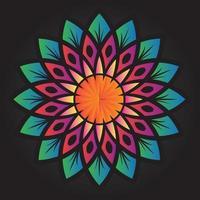 desenho de vetor de padrão de ornamento floral abstrato
