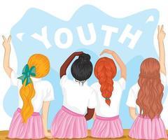dia internacional da juventude, 12 de agosto design