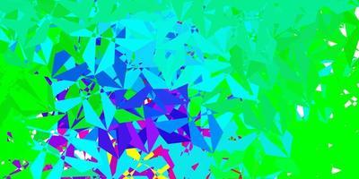 modelo de triângulo poli luz multicolor vetor. vetor