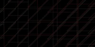 textura vector laranja escuro com linhas.
