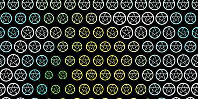textura vector multicolor escuro com símbolos de religião.