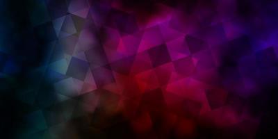 padrão de vetor multicolorido escuro com estilo poligonal com cubos.