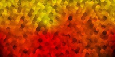 textura vector laranja escuro com formas de memphis.