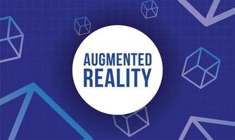 banner de realidade aumentada com cubos vetor