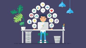 redes sociais virtuais da web