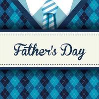 gravata listrada e pulôver para a celebração do dia dos pais vetor