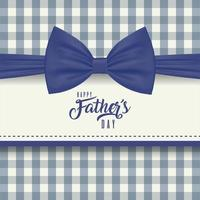 moldura com gravata borboleta para a celebração do dia dos pais vetor