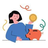 planejamento financeiro, poupança, investimento. vetor