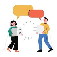 cooperação e trabalho em equipe. vetor
