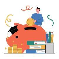 planejamento financeiro, investimento, educação. vetor