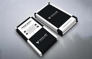 conjunto de cartão de visita vertical preto e branco vetor