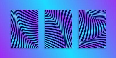 conjunto de coleção de design de capa de luzes de néon vetor
