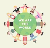 Nós somos o mundo. vetor