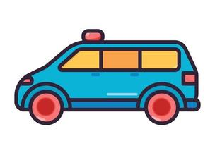 ilustração de ambulância colorida vetor