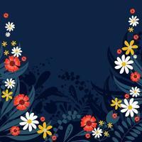 fundo escuro para design floral primavera vetor