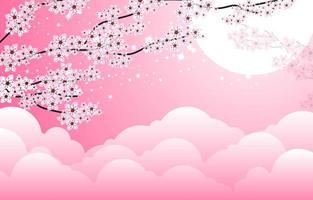 design floral da flor de cerejeira vetor