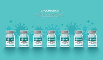 fundo de vacina. conceito de vacinação. cuidados de saúde e proteção. ilustração vetorial