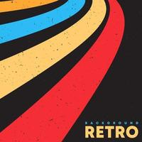 fundo de textura grunge retrô com listras de cor vintage. ilustração vetorial vetor