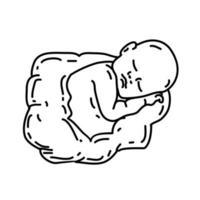 ícone nascido. estilo de ícone de contorno preto desenhado à mão doddle