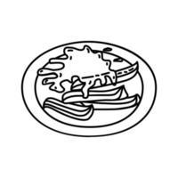 ícone de churros. doodle desenhado à mão ou estilo de contorno vetor
