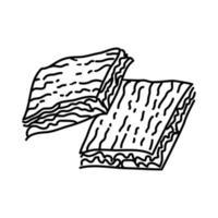 ícone Borek. doodle desenhado à mão ou estilo de contorno vetor