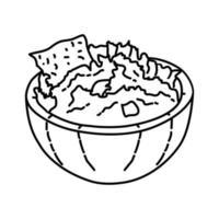 ícone de guacamelo. doodle desenhado à mão ou estilo de contorno