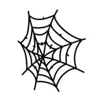 ícone da teia de aranha. doodle desenhado à mão ou estilo de ícone de contorno preto vetor